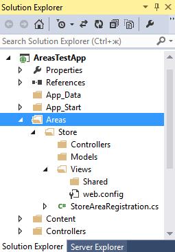 Области в ASP NET MVC 5