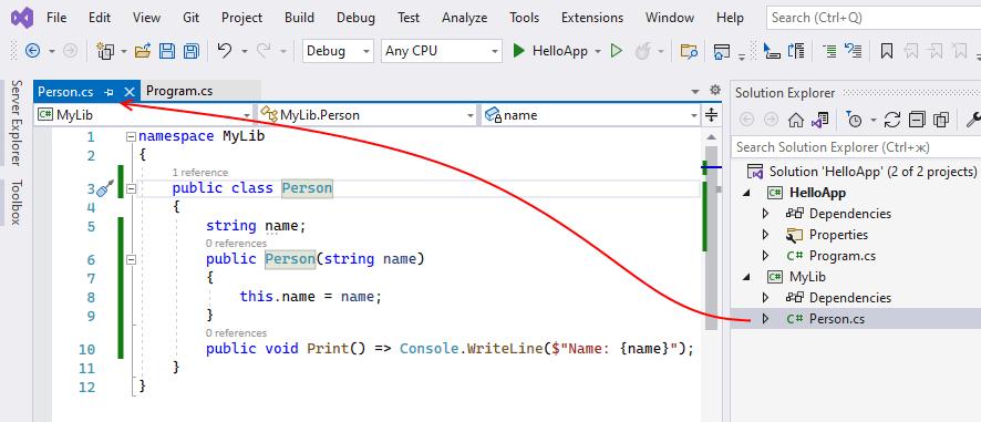 Новый проект в C# и .NET Core