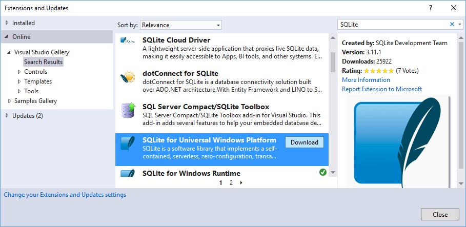 UWP | SQLite и Entity Framework Core