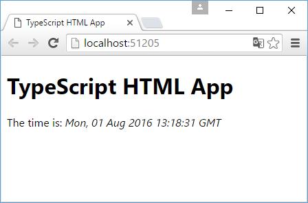 Приложение на TypeScript в Visual Studio 2015